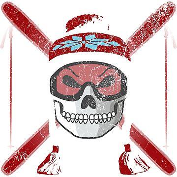 Ski Skull - Red | Skiing Designs | DopeyArt by DopeyArt