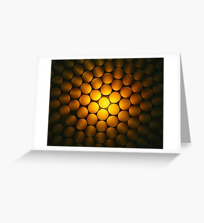 Golden Honeycomb Greeting Card
