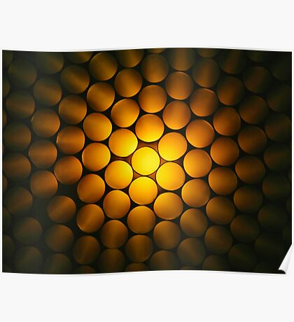 Golden Honeycomb Poster