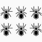 Cyber Spider Stickers, Black by AdTheBad