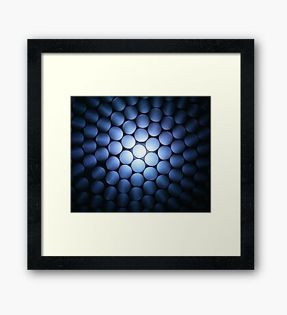 Alien Ship Landing - From Below Framed Print