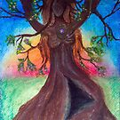 Sunset Behind Dryad by DragnflyRose