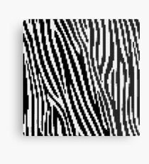 Zebra Glitch Metalldruck