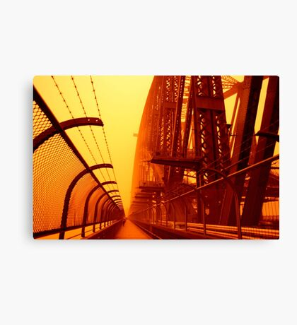 The Red Walk - SYDNEY DUST STORM Canvas Print