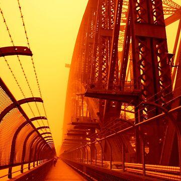 The Red Walk - SYDNEY DUST STORM by BryanFreeman