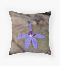 Caladenia caerulea Throw Pillow