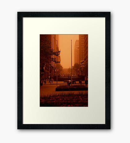 Waiting For The RED Light. Sydney. Australia Framed Print
