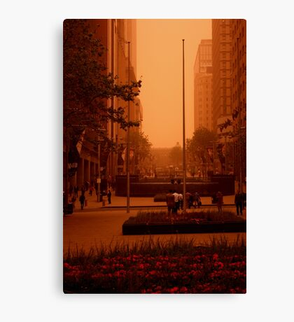 Waiting For The RED Light. Sydney. Australia Canvas Print