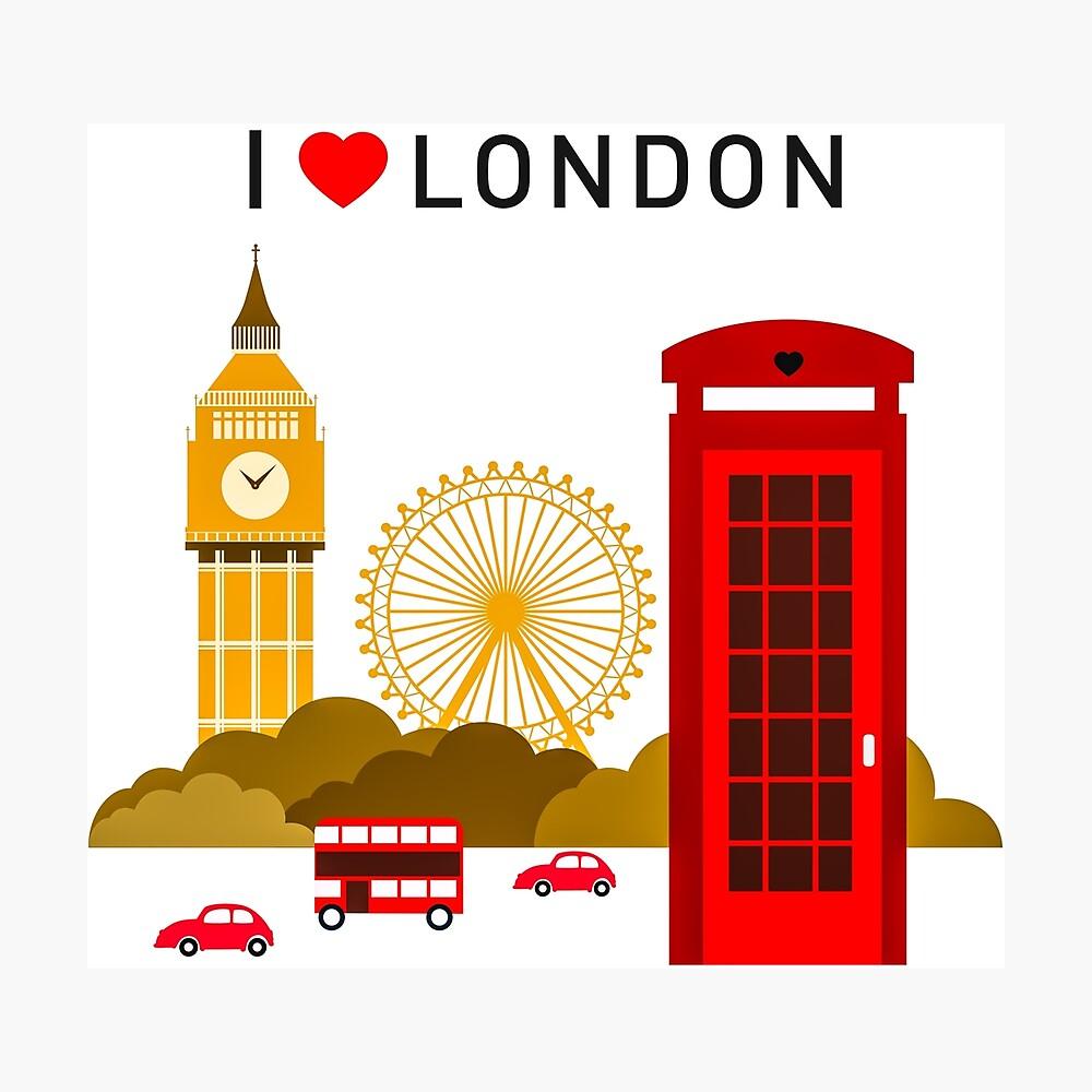 Ich liebe London Fotodruck