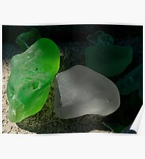 green and grey glass Poster