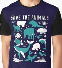 Save The Animals - Endangered Animals Graphic T-Shirt