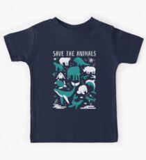 Rette die Tiere - gefährdete Tiere Kinder T-Shirt