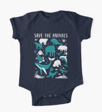 Rette die Tiere - gefährdete Tiere Baby Body Kurzarm