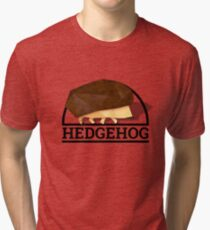 Low Poly Hedgehog - Title Tri-blend T-Shirt