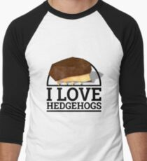Low Poly Hedgehog - I Love Hedgehogs Men's Baseball ¾ T-Shirt