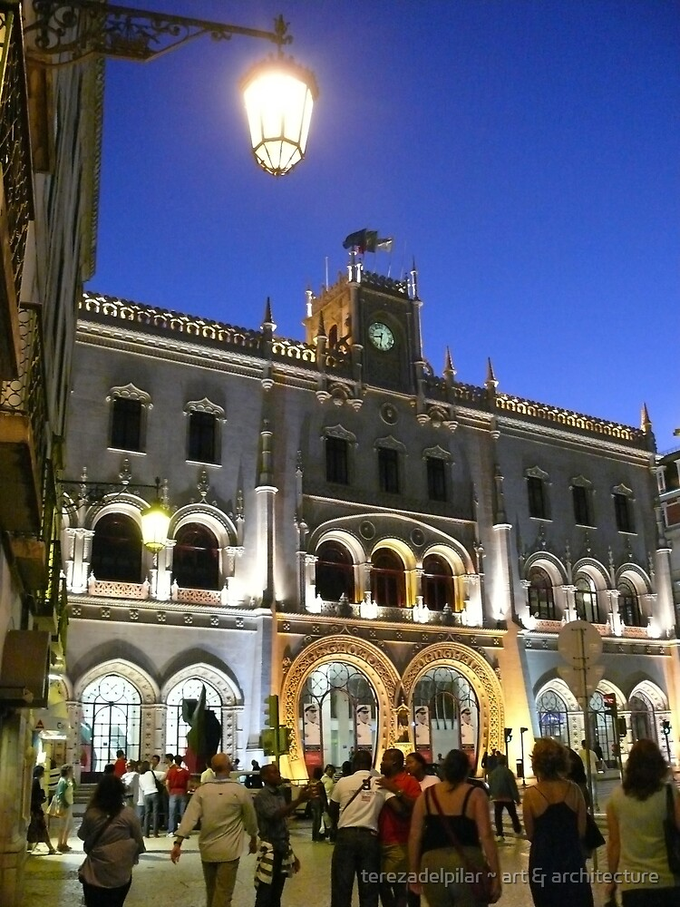 Lisbon....Rossio train station by terezadelpilar ~ art & architecture