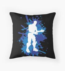 Robot Dance Move - Blue Throw Pillow