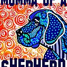 Momma Of A Shepherd Dog Dogs Puppy Mom Mother Mother's Day Jackie Carpenter Gift Idea Best Seller Lover Grandma Sister Gifts Rescue Adopt by jrcarmax
