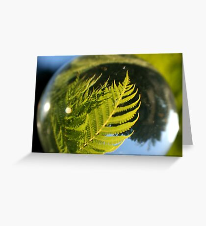 The Future is a Bright Green Tree Fern Greeting Card