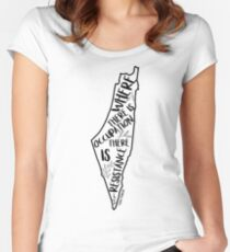 Where There Is Occupation There Is Resistance Women's Fitted Scoop T-Shirt