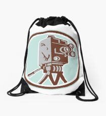 Vintage Movie Film Camera Retro Drawstring Bag