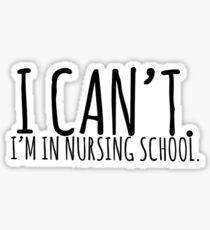 I can't. I'm in nursing school.  Sticker
