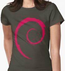 Debian Red Womens Fitted T-Shirt