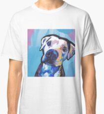 Pit bull Dog Bright colorful pop dog art Classic T-Shirt