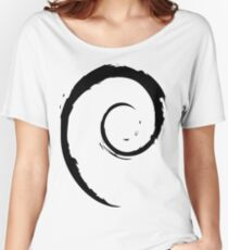 Debian Black Women's Relaxed Fit T-Shirt