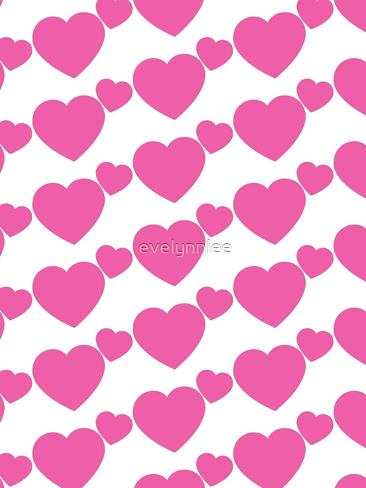 Pink Hearts by evelynnlee