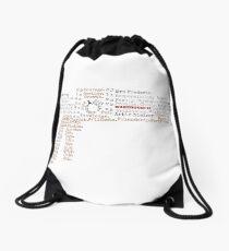 Tesla Typography Drawstring Bag