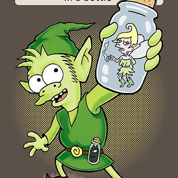 Messed-up fairy in a bottle by hootbrush