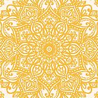 Yellow Mandala Pattern by aterkaderk