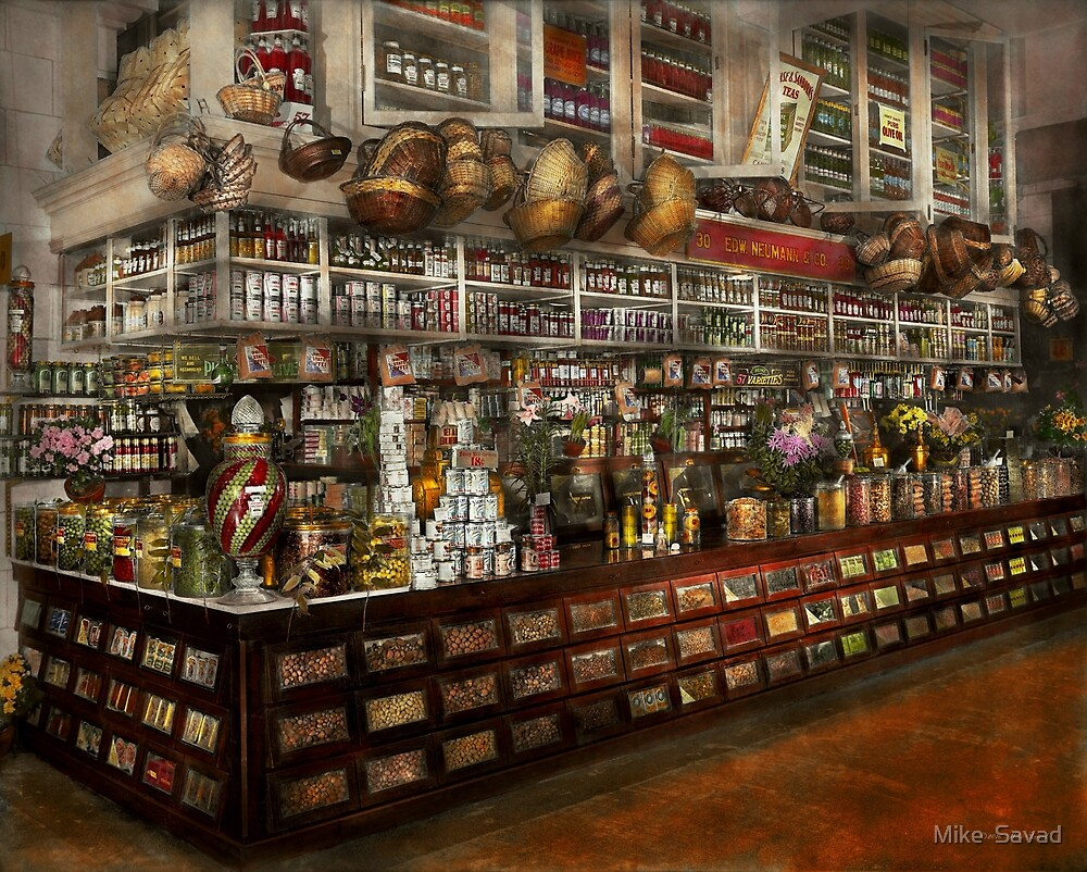 Grocery - Edward Neumann - The groceries 1905 by Michael Savad