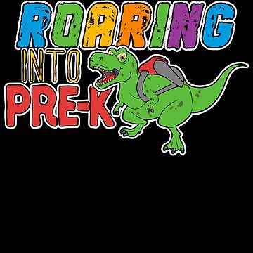 Pre-K Dinosaur T Rex Back to School T Shirt for Boys by BUBLTEES