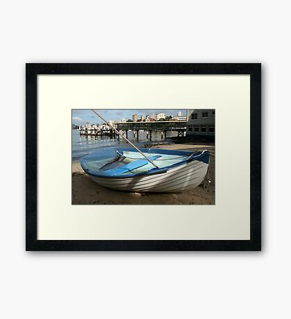 The Sunken Boat Framed Print