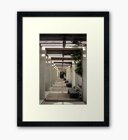 The Long Walkway Framed Print