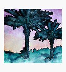 modern art landscape watercolour painting Photographic Print