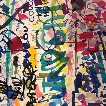 Street Art Graffiti Pattern Colors of Life by signorino