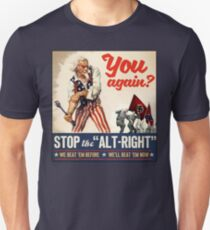 Antifa | Stop the Alt Right | Anti Trump Unisex T-Shirt