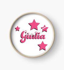 Giulia's first name Clock