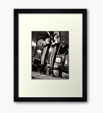 Helmut Newton Sexy Fashion Photography Framed Print