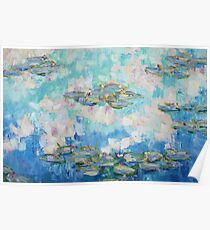 Cloud reflections and lilies Poster