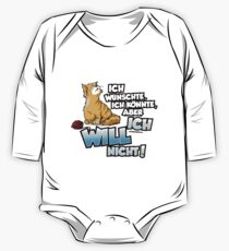 I wish I could, but I do not want to. Cat shirt print One Piece - Long Sleeve