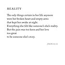 Reality by Franchesca Cox
