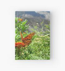 Gulf Fritillary at Water's Edge Hardcover Journal