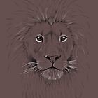 Lion black and white crosshatch by SuspendedDreams