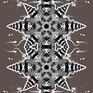 Geometric Mono Star by webgrrl