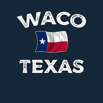 Waco Texas Waving Flag by dk80