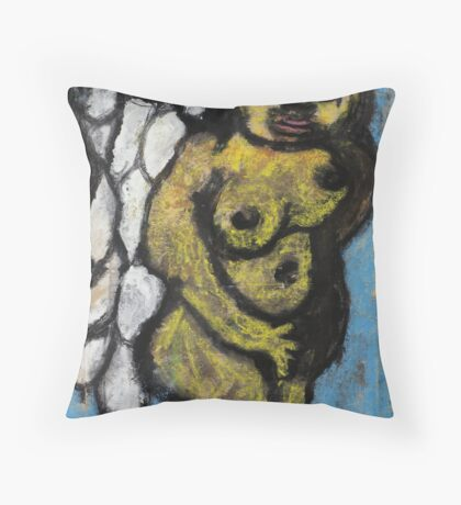 Angel in disguise Throw Pillow